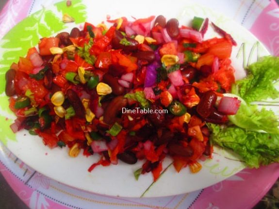 Rajma Carrot Beetroot Tomato Onion Corn Salad Recipe / Delicious Salad
