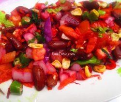 Rajma Carrot Beetroot Tomato Onion Corn Salad Recipe / Yummy Salad