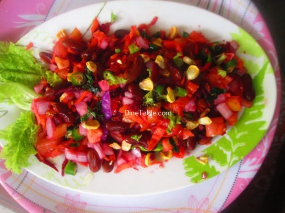 Rajma Carrot Beetroot Tomato Onion Corn Salad Recipe / Homemade Salad