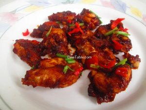 Saucy Prawns Recipe