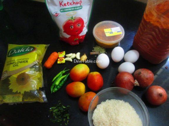 Tomato Egg Rice Recipe / Homemade Dish