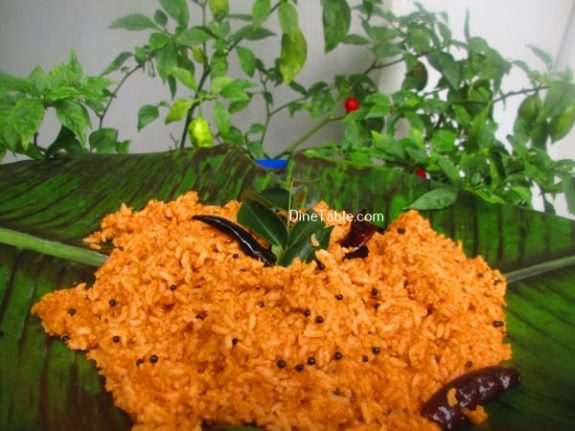 Chammanthi Rice Recipe / Spicy Vegetarian Rice