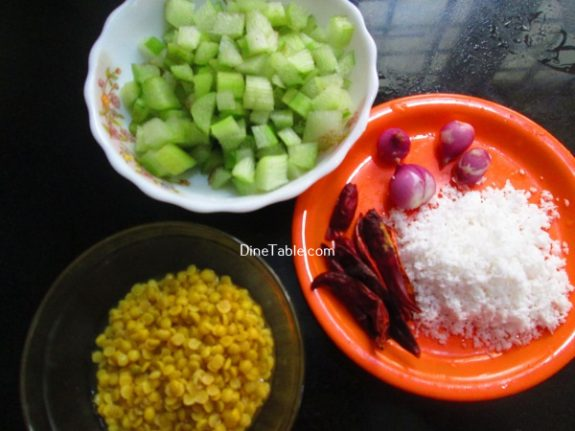 Chembin Thal Parippu Thoran Recipe / Vegetable Thoran