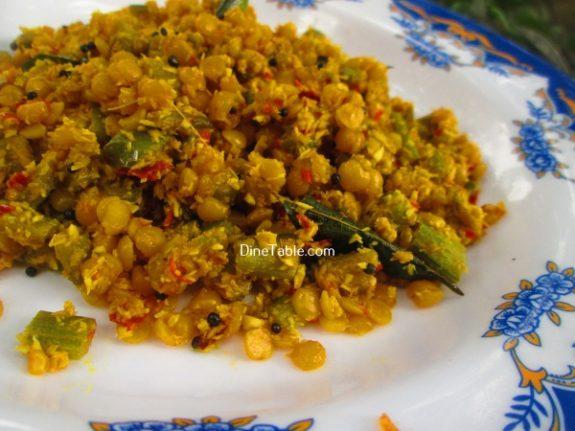 Chembin Thal Parippu Thoran Recipe / Tasty Thoran