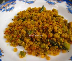 Chembin Thal Parippu Thoran Recipe / Tasty Thoran