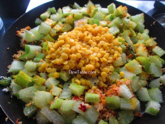 Chembin Thal Parippu Thoran Recipe / Delicious Thoran
