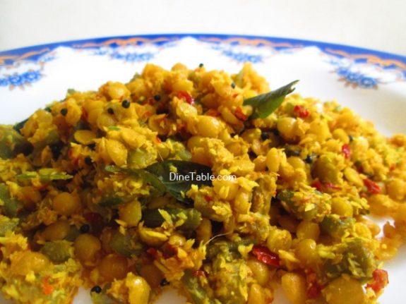Chembin Thal Parippu Thoran Recipe / Quick Thoran