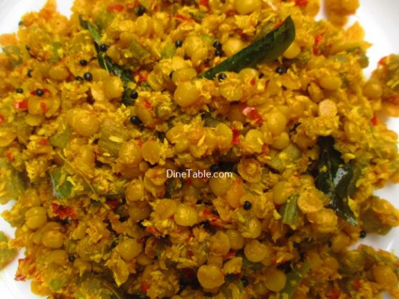 Chembin Thal Parippu Thoran Recipe / Side Dish Thoran
