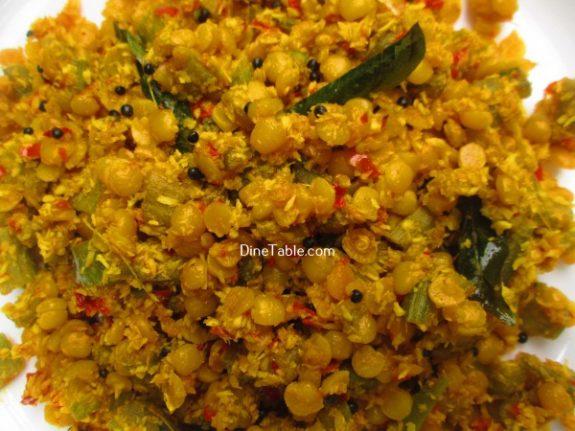Chembin Thal Parippu Thoran Recipe / Side Dish Thoran