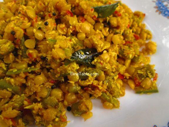 Chembin Thal Parippu Thoran Recipe / Easy Thoran