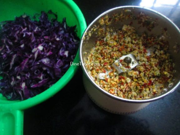 Purple Cabbage Thoran Recipe / Vegetarian Thoran
