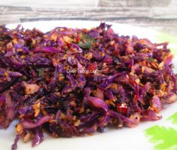 Purple Cabbage Thoran Recipe / Yummy Thoran