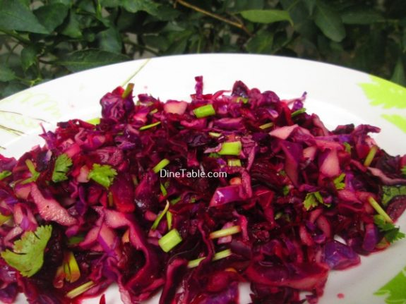 Red Cabbage Detox Salad Recipe / Quick Salad