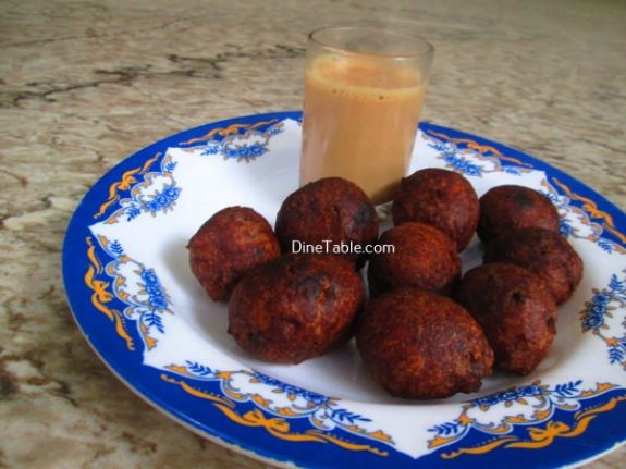 Banana Wheat Bonda Recipe / Wheat Bonda
