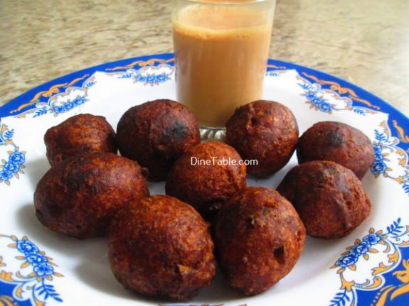 Banana Wheat Bonda Recipe / Easy Bonda