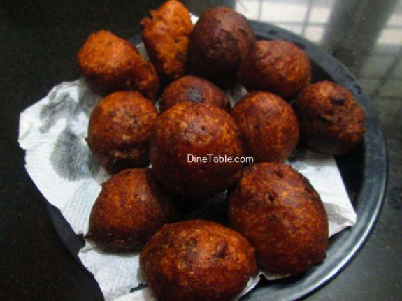 Banana Wheat Bonda Recipe / Spongy  Bonda