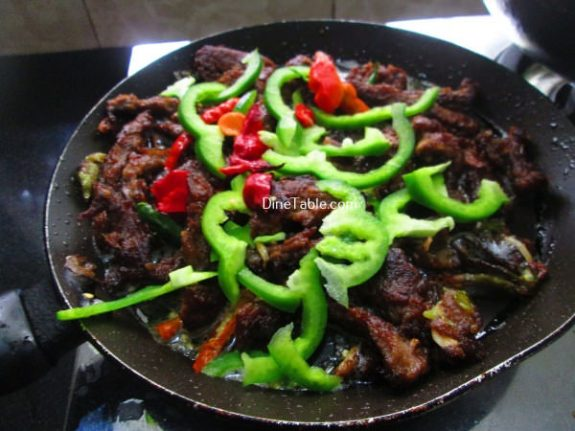 Chinese Dry Beef Chilly Recipe