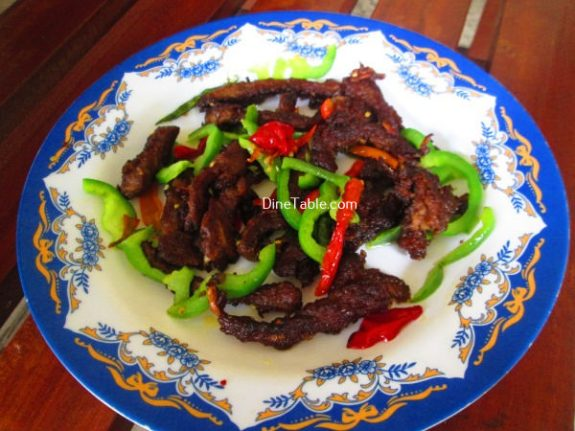 Chinese Dry Beef Chilly Recipe / Yummy Dish