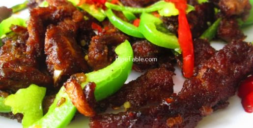 CChinese Dry Beef Chilly Recipe / Simple Dish