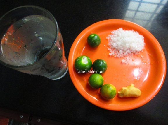 Ginger Lime Recipe / Quick Drink