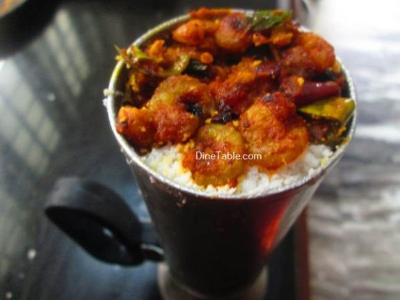 Chemmeen Puttu Recipe / Prawns Puttu