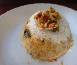 Egg Burji Puttu Recipe - Spicy Puttu