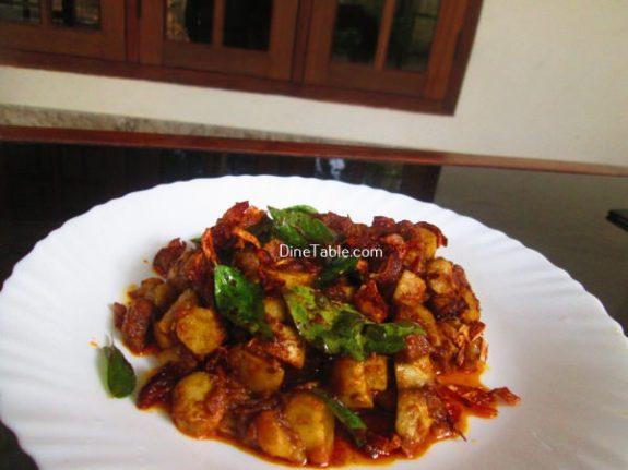 Koorka Beef Ularthiyathu Recipe / Non Vegetarian Dish