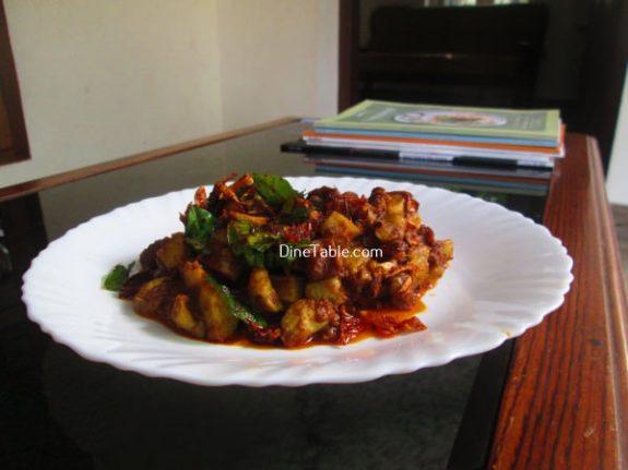 Koorka Beef Ularthiyathu Recipe / Spicy Dish