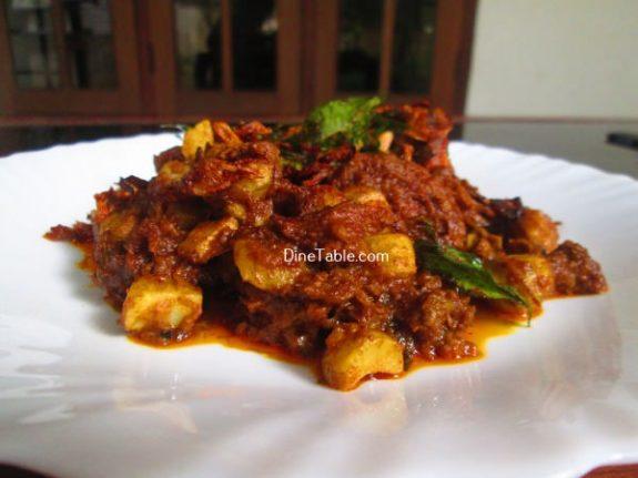 Koorka Beef Ularthiyathu Recipe / Healthy Dish