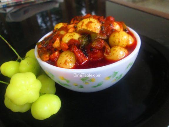 Nelli Puli Achar Recipe - Quick Pickle