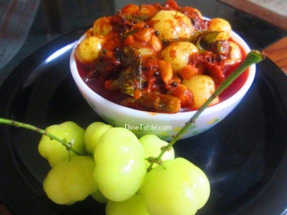 Nelli Puli Achar Recipe - Easy Pickle
