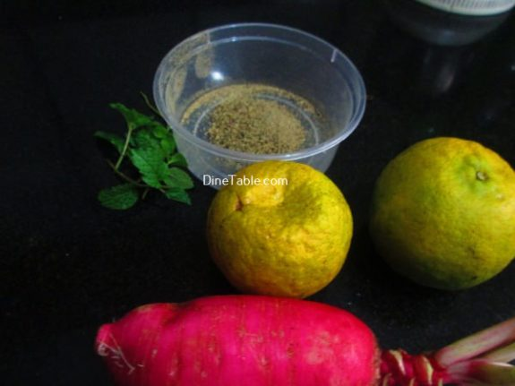 Orange Radish Salad Recipe - Mixed Salad