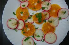 Orange Radish Salad Recipe - Tasty Salad