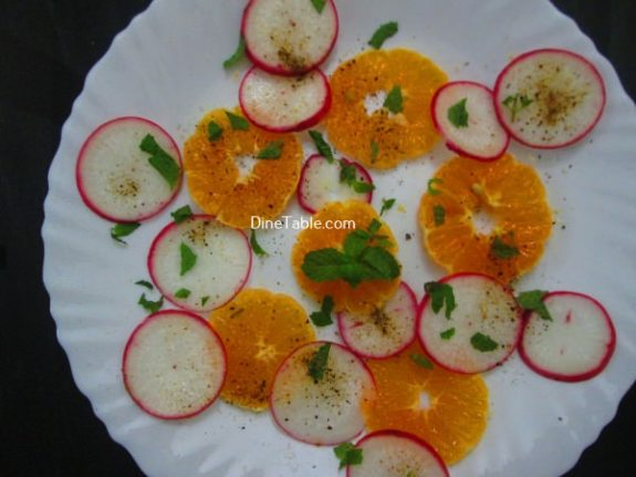 Orange Radish Salad Recipe - Raw Salad