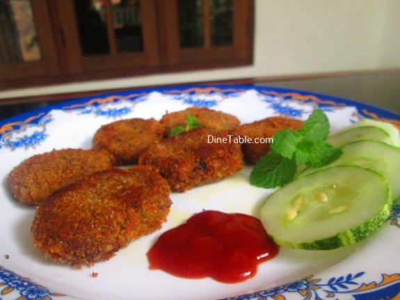 Vazhakoombu Cutlet Recipe - Homemade Cutlet