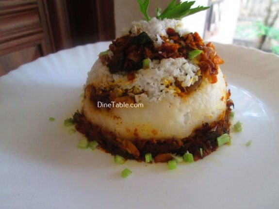 Chicken Puttu Recipe / Meat Puttu