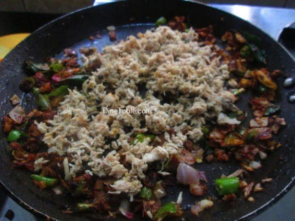 Chicken Puttu Recipe / Easy Puttu