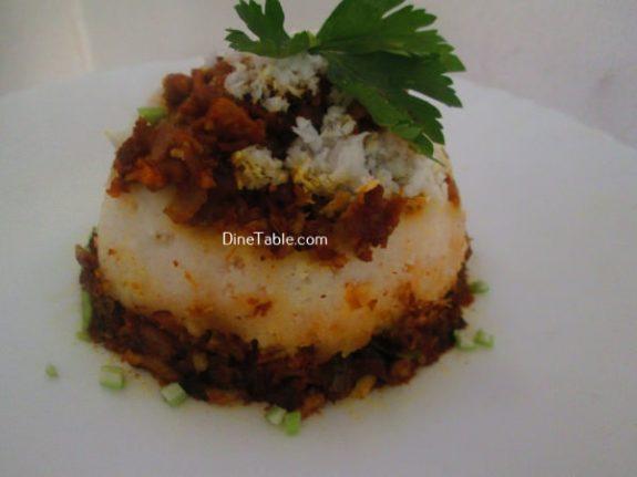 Chicken Puttu Recipe / Crunchy Puttu