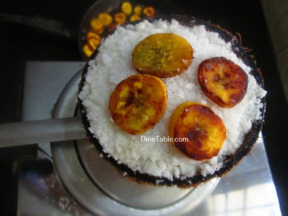 Roasted Banana Puttu Recipe / Homemade Puttu