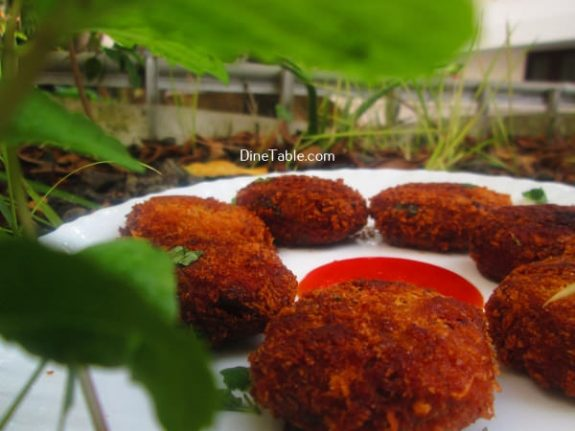 Tapioca Fish Cutlet Recipe / Kerala Cutlet