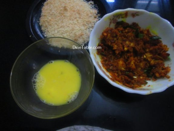 Tapioca Fish Cutlet Recipe / Crunchy Cutlet