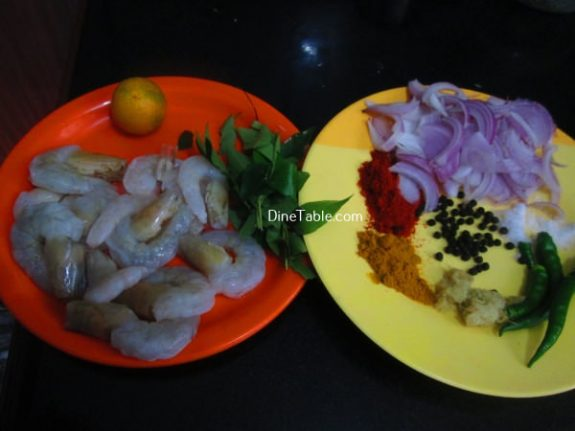 Prawns Pepper Fry Recipe / Quick Fry