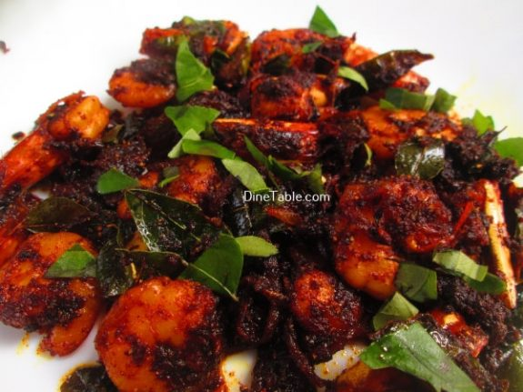 Prawns Pepper Fry Recipe / Deep Fry