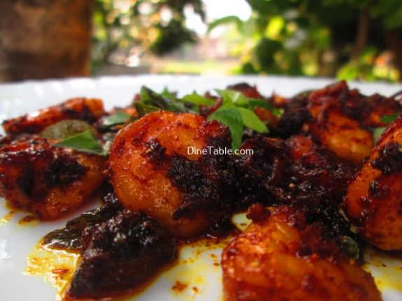 Prawns Pepper Fry Recipe / Shrimp Fry
