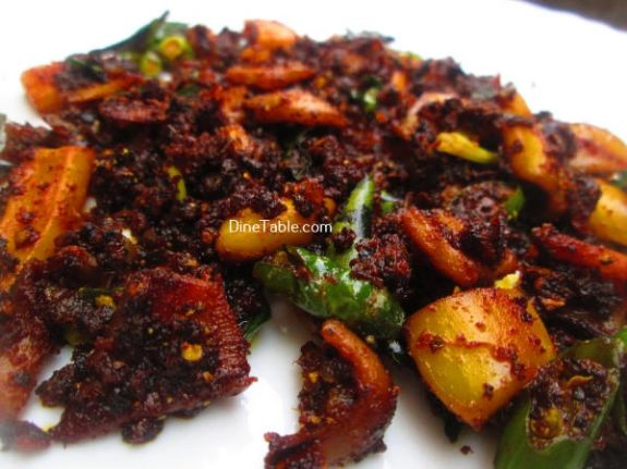Squid Pepper Fry Recipe / Kerala Fry