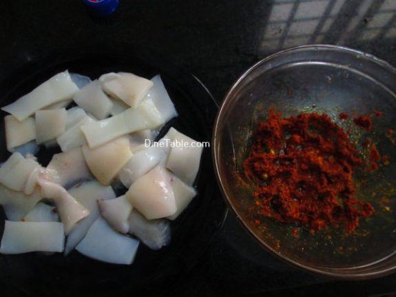 Squid Pepper Fry Recipe / Quick Fry