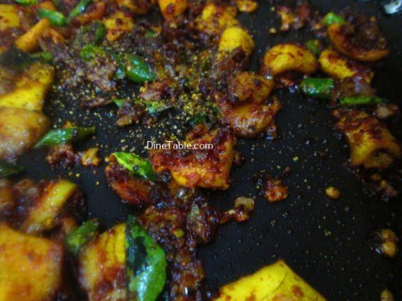 Squid Pepper Fry Recipe / Homemade Fry