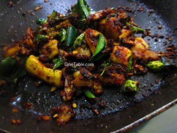 Squid Pepper Fry Recipe / Yummy Fry