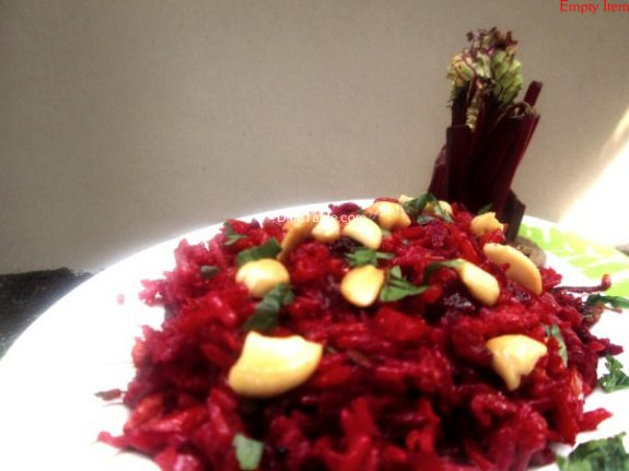Beetroot Rice Recipe / Nutritious Rice