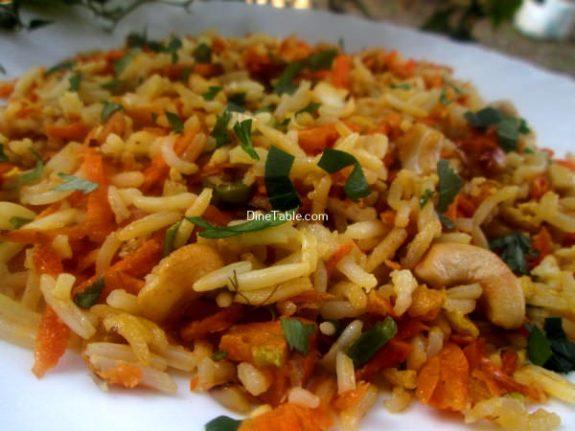 Carrot Rice Recipe / Crunchy Rice